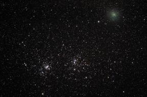 doppio ammasso del perseo con cometa